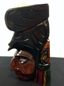 Hand Carved Wooden Mayan Mask CM4-1