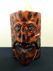 Hand Carved Wooden Mayan Mask CM5