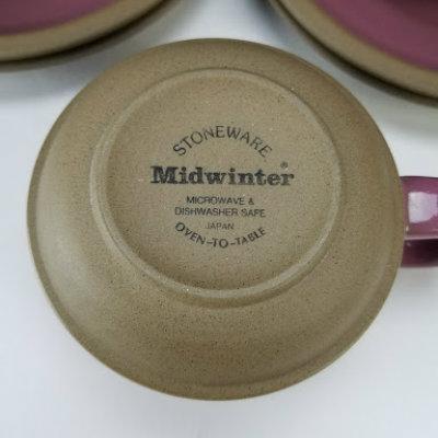 Midwinter Stoneware Japan 4 Cups Amp 4 Saucers Beckalar