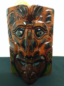 Hand Carved Wooden Mayan Mask CM6