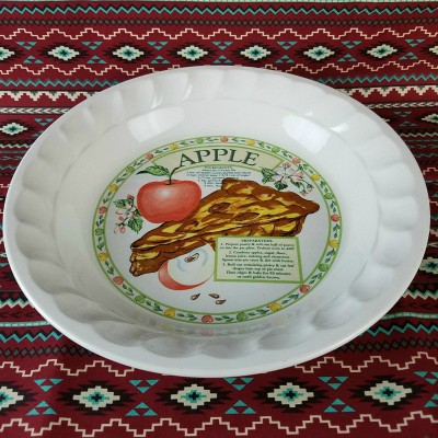 Apple Pie Dish Plate Beckalar