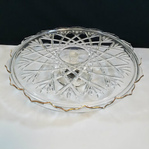 ... Footed Cake Plate. ?; ? & Mikasa Hampshire Gold Footed Cake Plate - Beckalar